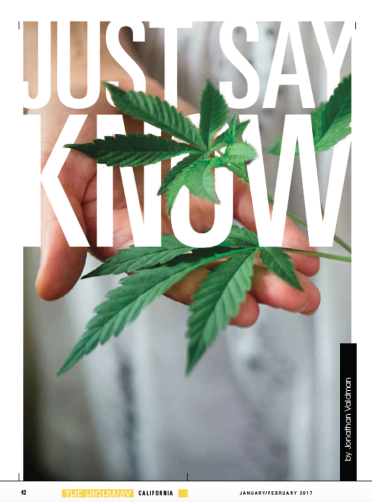 Just Say Know Article